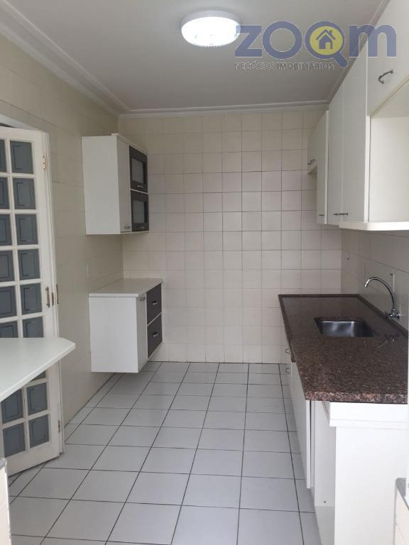 apartamento com 44 m² 1 dormitório com armários, sala com varanda que liga ao dormitório, cozinha...