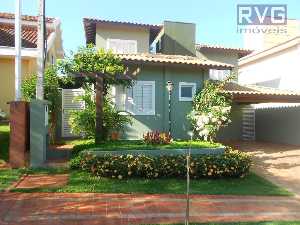 Sobrado residencial para venda e locação, Condomínio San Marco I- Ilha Cenerê, Bonfim Paulista.