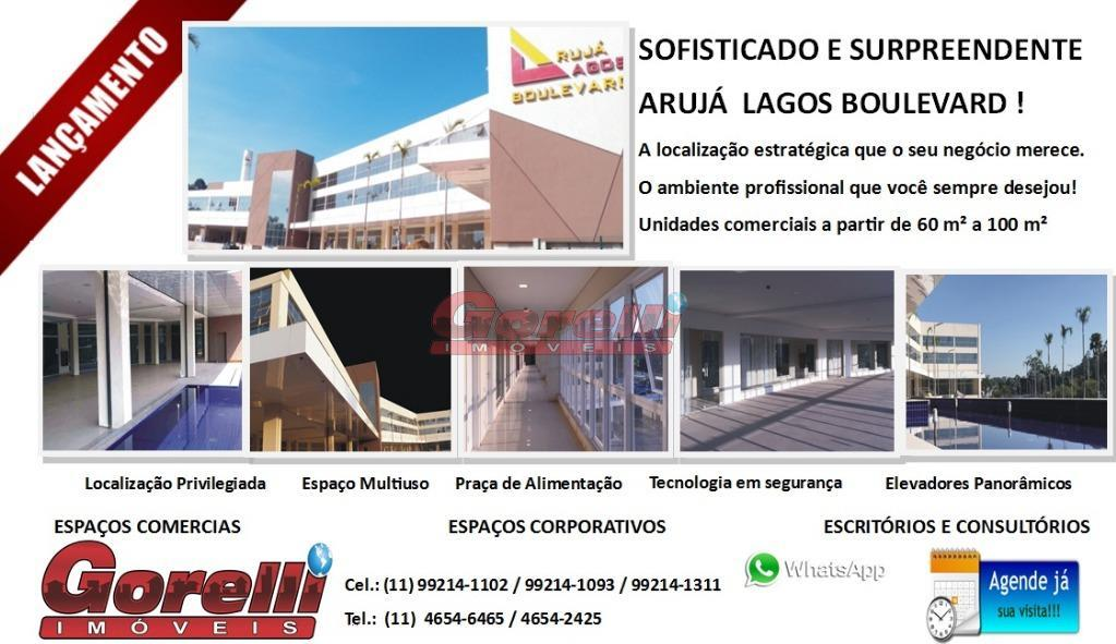 Salão comercial para locação, Caputera, Arujá - SL0017.