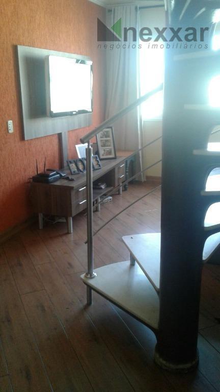 cobertura em condominio com área de lazer complet.3 dormitórios, sendo 1 suíte com armários, sala de...