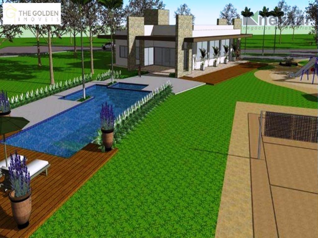 terreno plano em condomínio chamado de villa do sol, recém entregue, já com várias casas construindo,...
