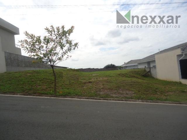 terreno plano com 400 metros bem localizado dentro do condomínio, pronto para construir, portaria 24 hs.