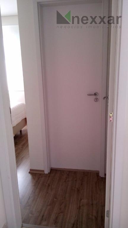 lindo apto, decorado com 2 dorms sendo 1 suíte, sala com 2 ambientes, completo de armários...