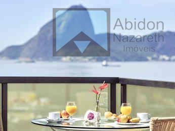 Maior apartamento do Hotel Mercure Orizzonte Niterói, com 75m2, quarto e sala com varanda, podendo se transformar em 2 quartos