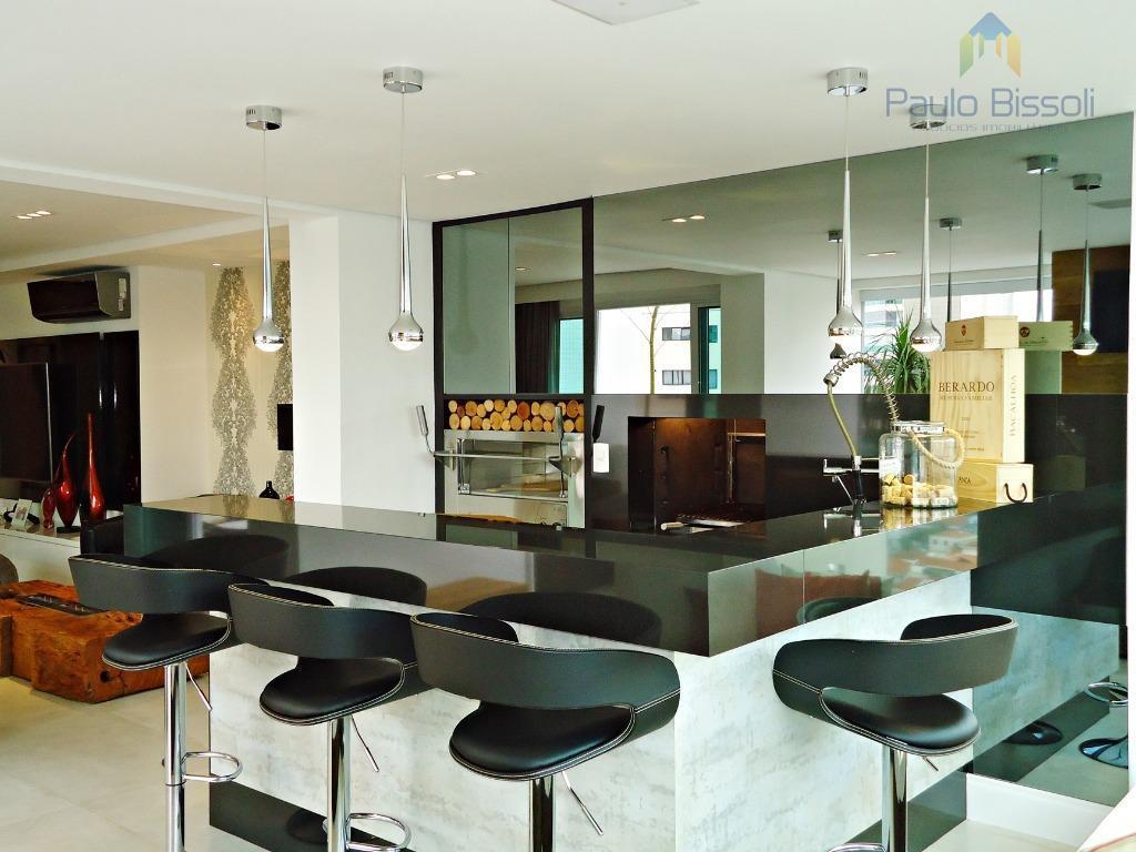 Apartamento Santana Totalmente Decorado 223 M Privativos 4  -> Gesso Sala Pe Direito Duplo