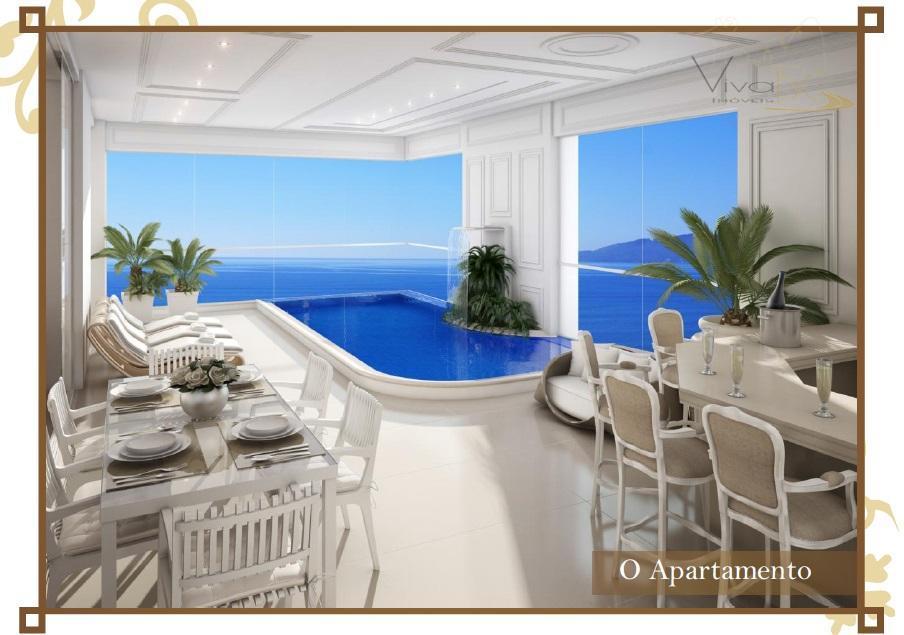 Luxuoso apto frente mar com piscina privativa em cada apto com 4 suítes e 4 vagas - centro de Bal. Camboriú - SC.