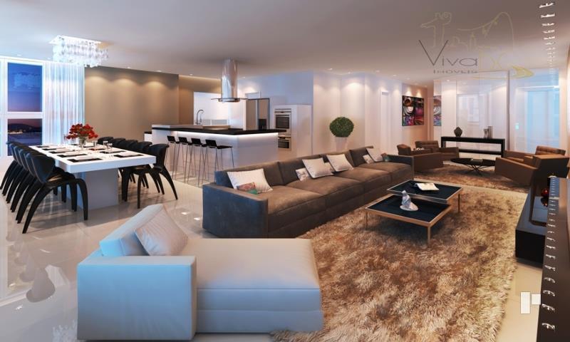 Luxuoso apartamento de 4 Suítes com 4 vagas de FRENTE PARA O MAR - pronto para morar - com lazer completo.