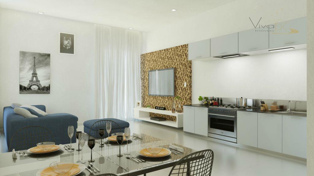 Lindo apartamento de 2 quartos com sacada em Camboriú