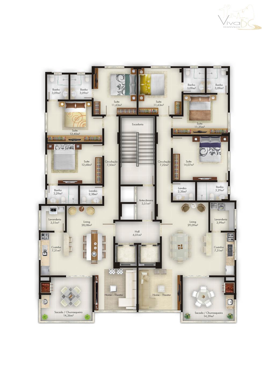 vende-se bairro meia praiaitapema scapartamento:3 suítes2 ou 3 vagas de garagemlavaboliving para 2 ambientessacada com churrasqueirainfra...