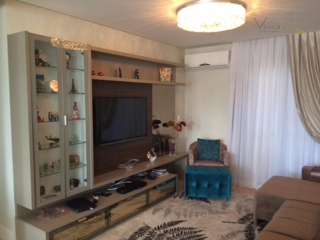 Maravilho apartamento mobiliado com 3 suítes, 2 vagas de garagens e área de lazer completa