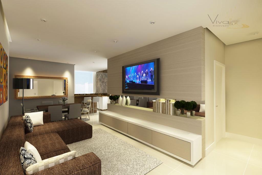 Excelente apartamento 3 suítes e 3 vagas de garagem - Quadra mar  - Meia Praia - Itapema - SC