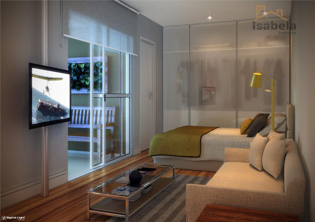 apartamento novíssimo contra piso, entregue no mês de outubro de 2014, com 1 dormitório, sala com...