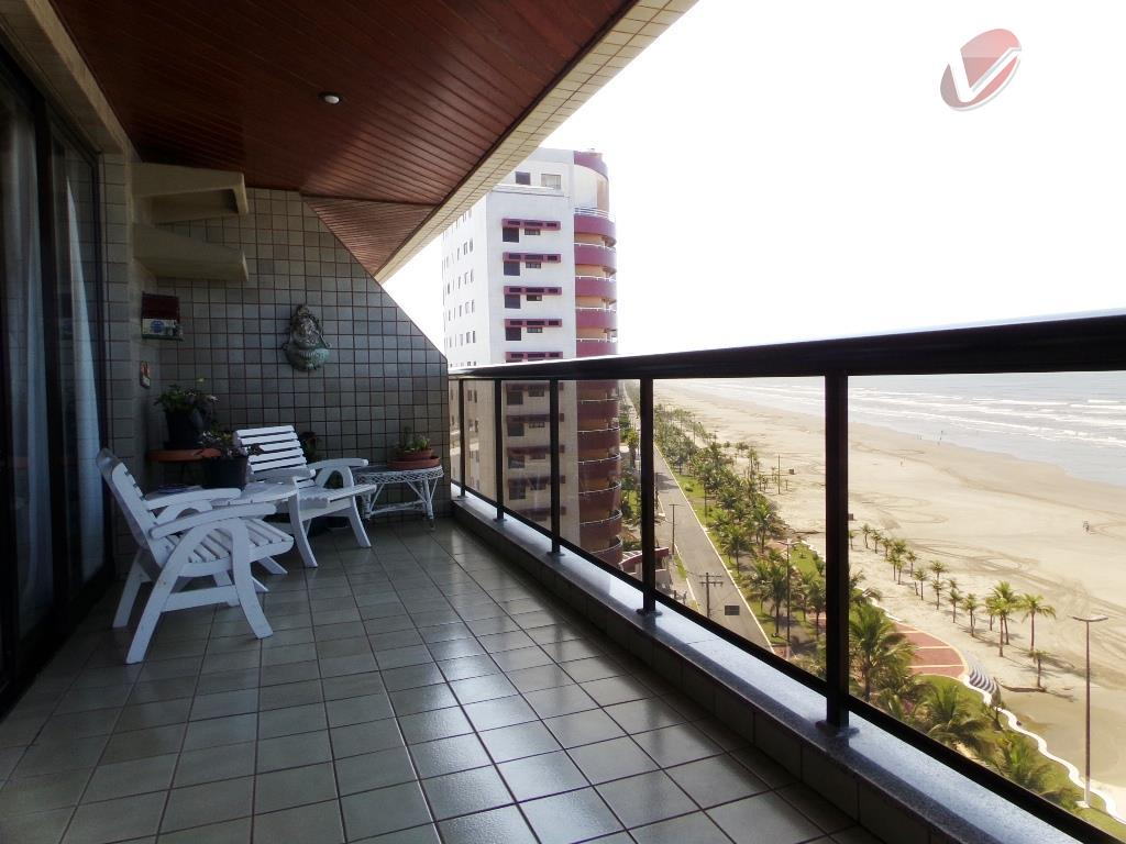 Apartamento tipo, com 200 m² em frente ao mar, no Flórida em Praia Grande!