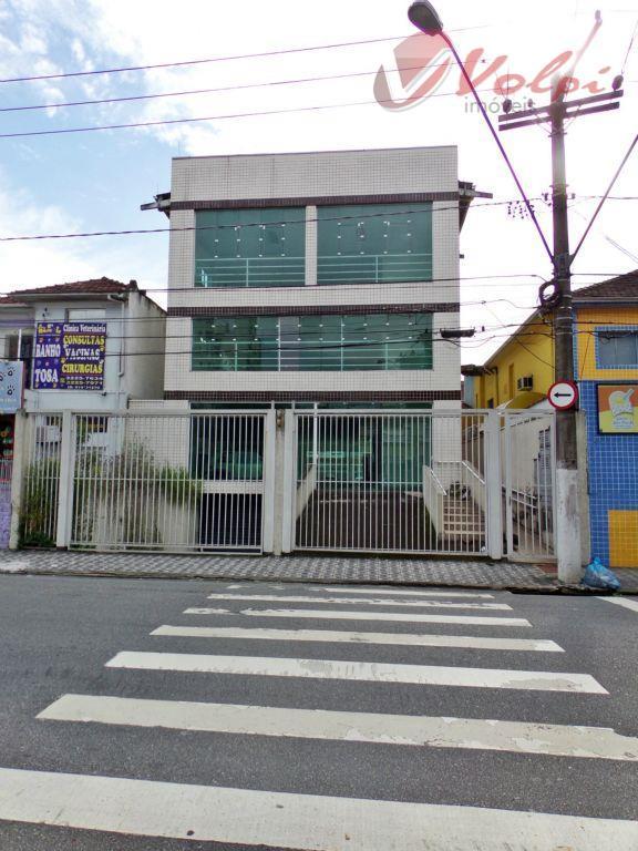 Prédio corporativo para locação, Gonzaga, Santos.
