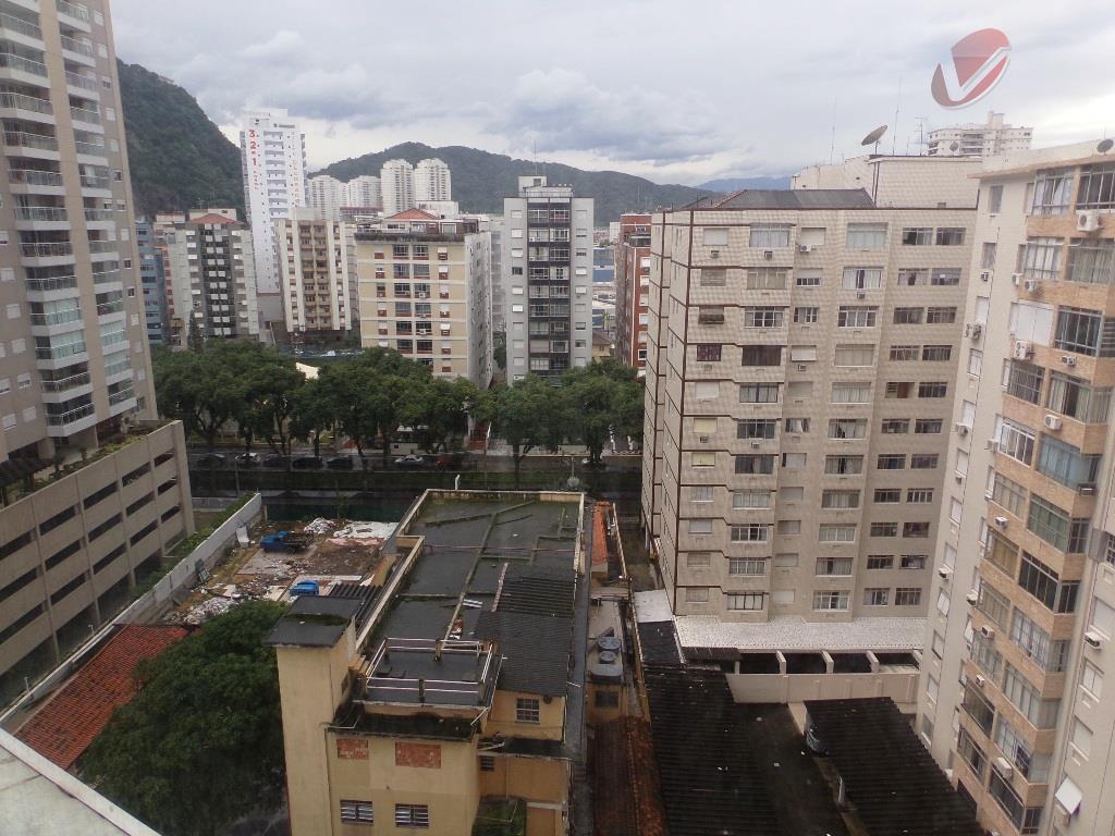 Apartamento de 1 dormitório em Santos, à beira mar!!!