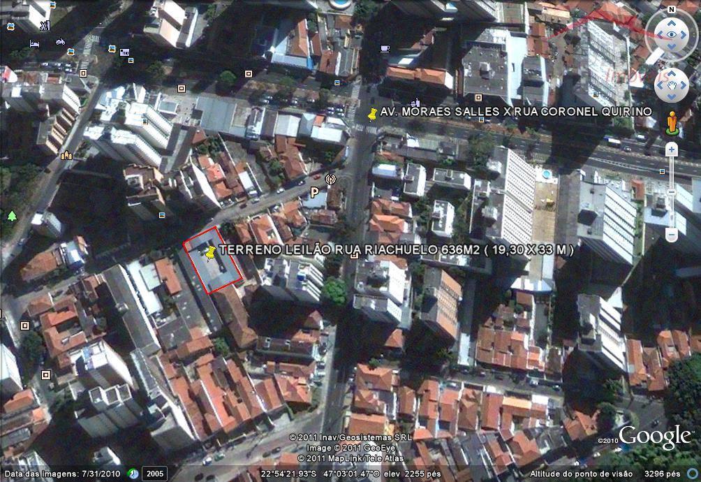 Exclusividade - área 636 m² - Z 17 - 19X33 - 50 mts da av. Moraes Sales