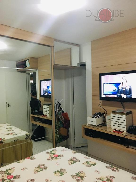 apartamento no gran village turu vi, 2º andar, com 57,00m² de área privativa, sala em dois...