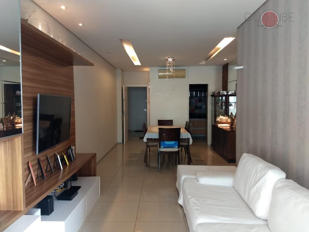 apartamento à venda com 3 suítes com projetados, banheiro social, sala de estar/jantar, sauna, gás encanado,...