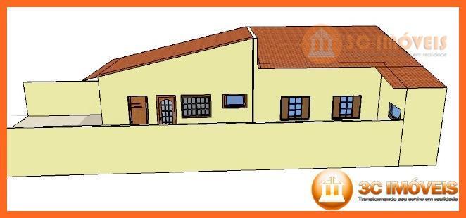 casa térrea de 1 dormitório sendo 1 suíte, 2 vagas de auto, sala de estar, sala...