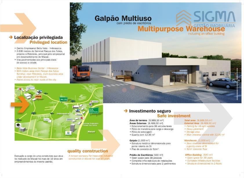 Galpão industrial para venda e locação, Bela Vista, Macaé