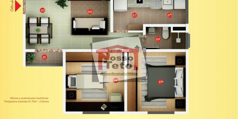 excelentes apartamentos, com 51,70m², 2 dormitórios, living 2 ambientes, wc, área de serviço e sacada. pronto...