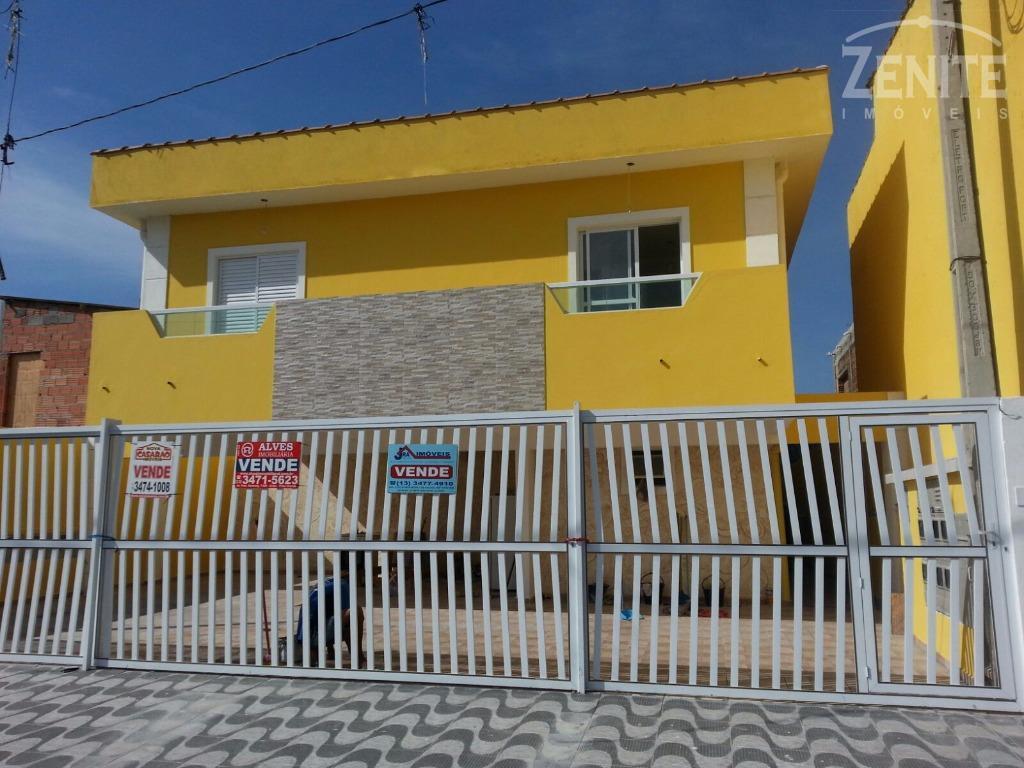 Casa  residencial condomínio fechado 1 e 2 Dorm. à venda, Jardim Melvi, Praia Grande.
