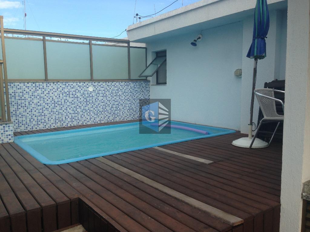 cobertura-próx. praia - montada -piso em granito - indev- 1ºpiso: varandão -salão - 3quartos-1suíte - banheiro...