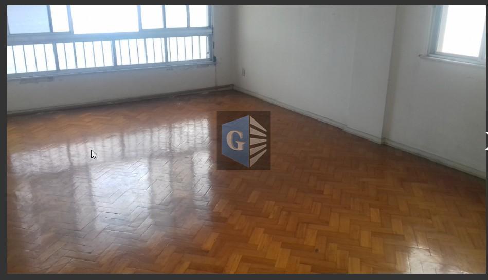 praia de icaraí - frente( vistão ) - vazio - 2p/andar -salão (30m²) piso tacos -...