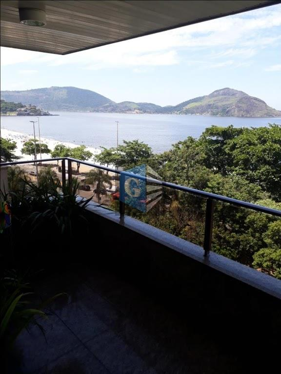 magnifico /praia de icarai - frente mar - todo montado - piso granito- varandão panorâmico -...