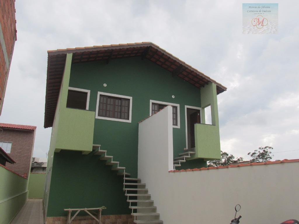 Casa sobreposta residencial à venda, Suarão, Itanhaém - CA0226.