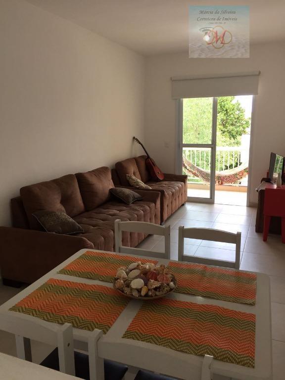 Apartamento mobiliado de 2 dormitórios com suíte a venda no Centro de Itanhaém