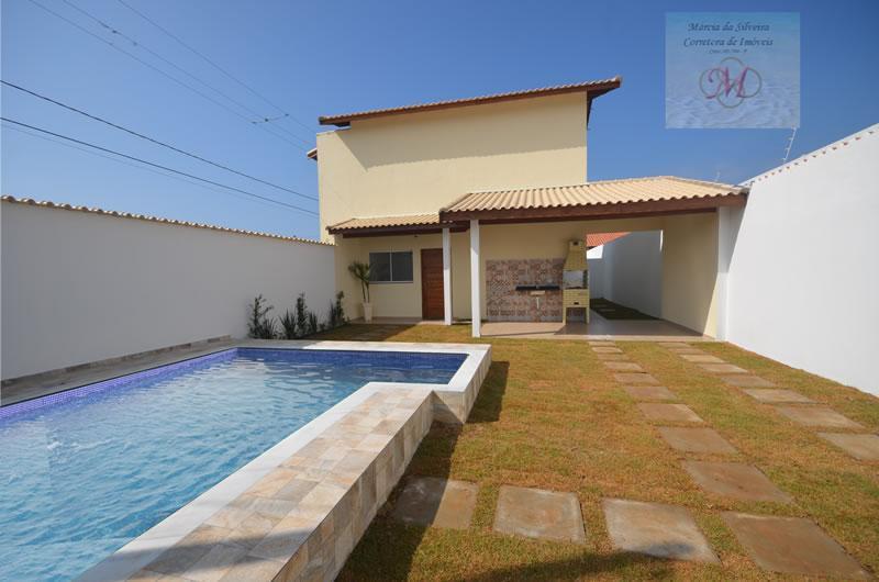 Casa sobreposta com piscina à venda, Cibratel II, Itanhaém.