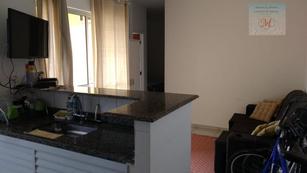 Apartamento de 1 dormitório em condomínio com piscina para venda em Itanhaém