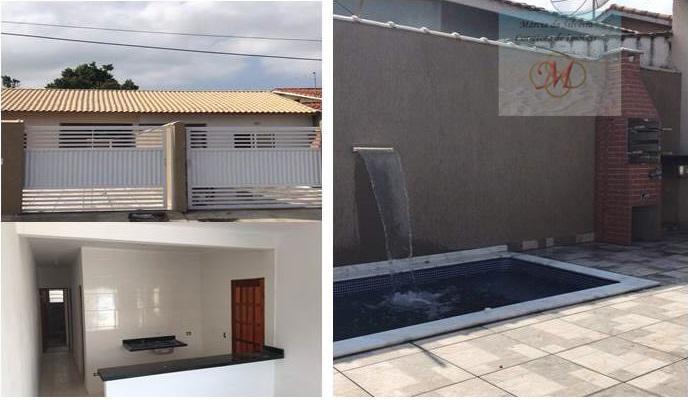 Casa à venda com piscina, próx, ao Centro - Jd.Ribamar, Peruíbe.