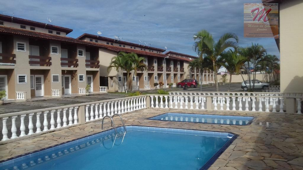 Sobrado em Cond. com piscina e churrasqueira, 2 dormitórios à venda - Jd.Cibratel - Itanhaém/SP