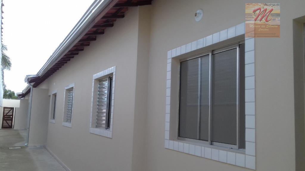 Casa com 2 dormitórios para alugar fixo , 43 m² por R$ 800/mês - Umuarama - Itanhaém/SP