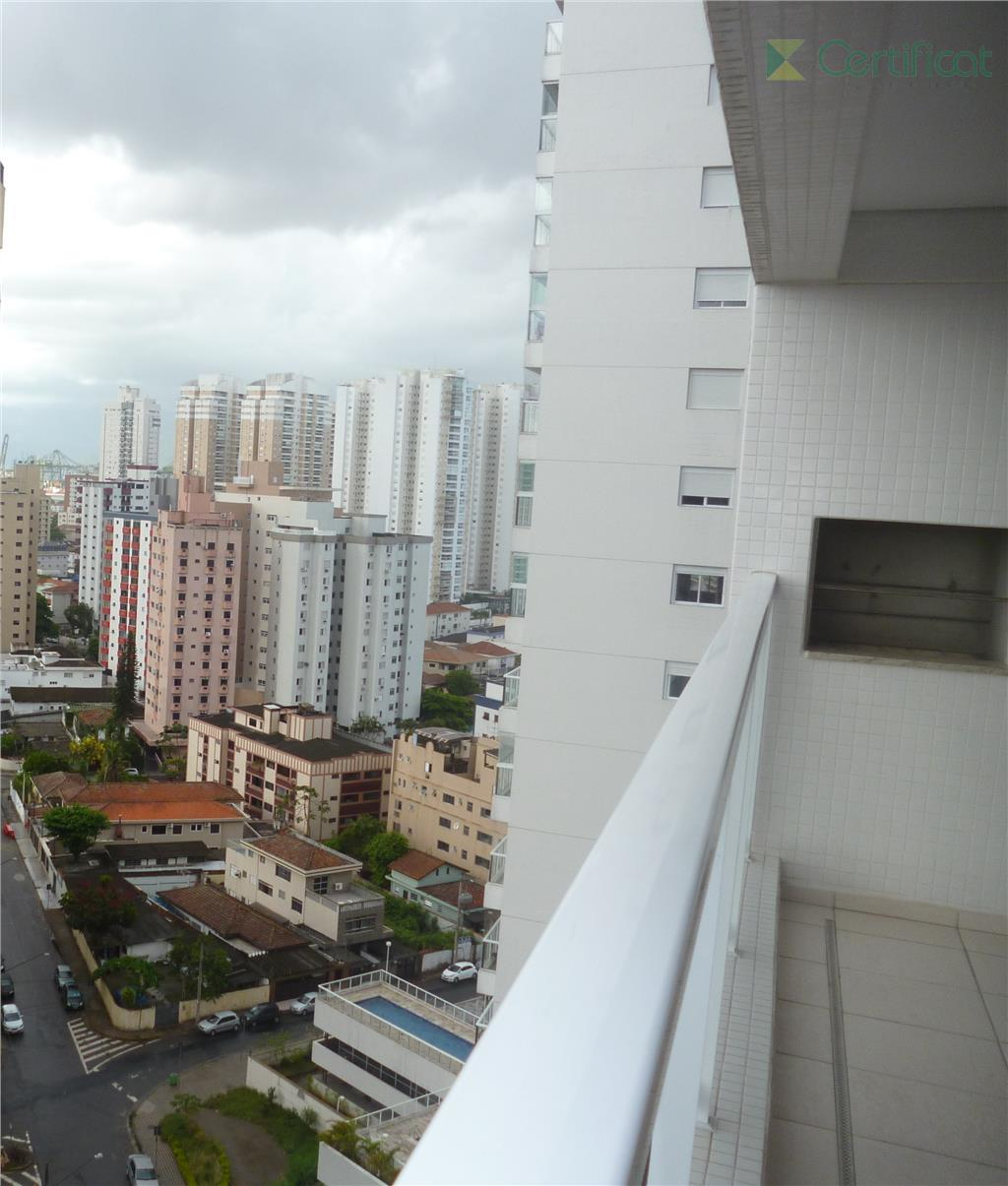 Apartamento residencial para venda e locação, Ponta da Praia, Santos.