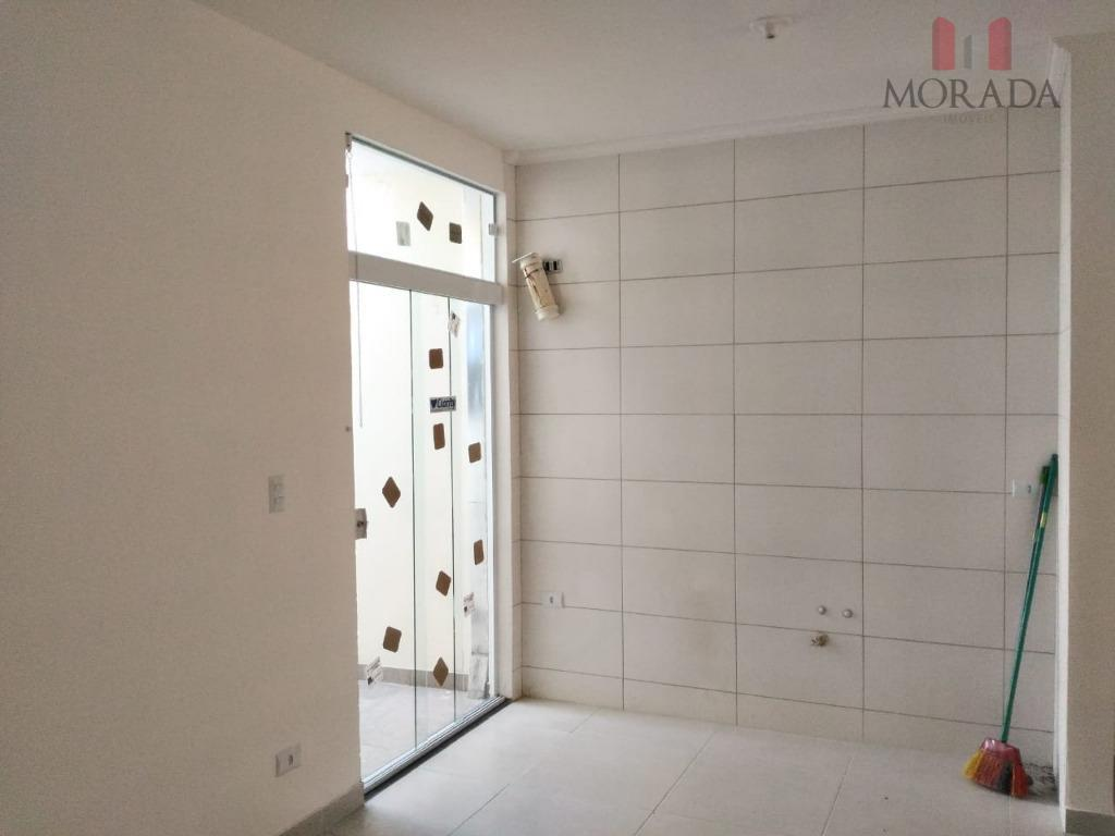 casa nova com 3 dorms, sendo 1 suíte, sala, cozinha americana, wc, área de serviço coberta,...
