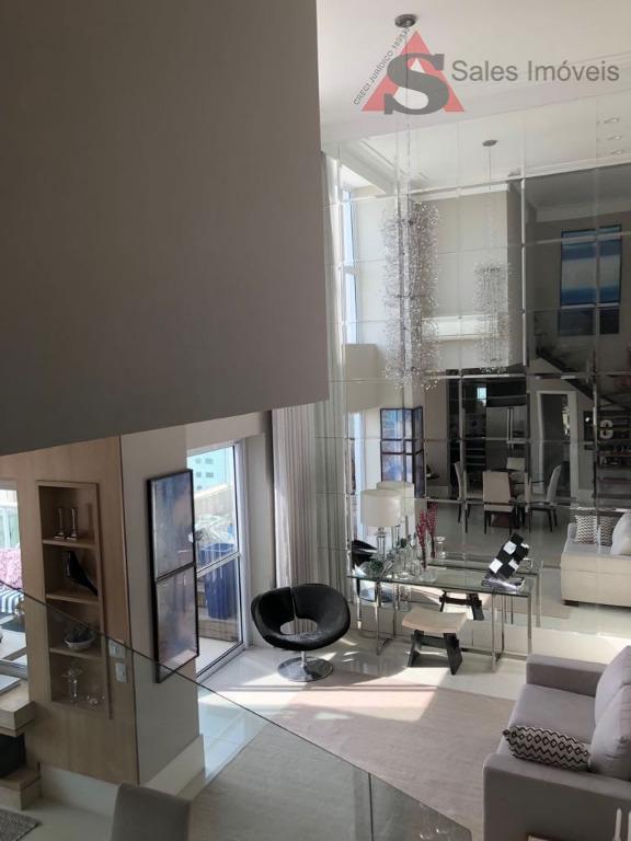 belíssima cobertura duplex, com jacuzzi, solarium, ar condicionado instalado, pé direito duplo na sala, escritório. planta...