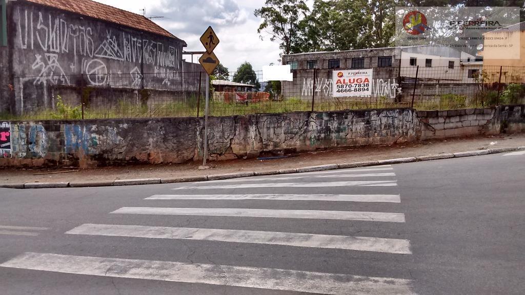 Terreno  comercial para locação, Jardim Valo Velho, Itapecerica da Serra.