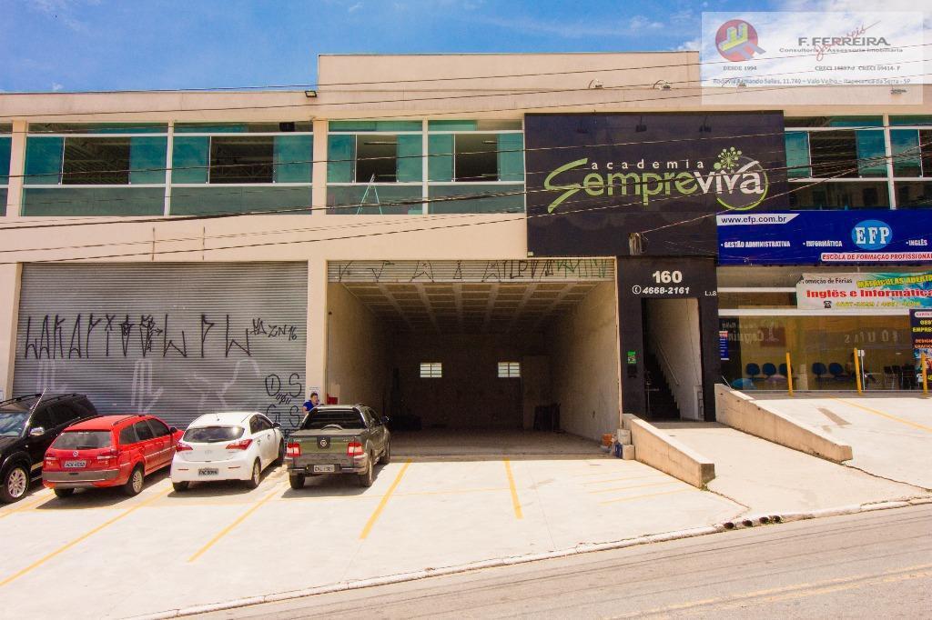 ótimo salões comercial com 164 m²,bem localizado embaixo da academia sempre vida e com amplo estacionamento.