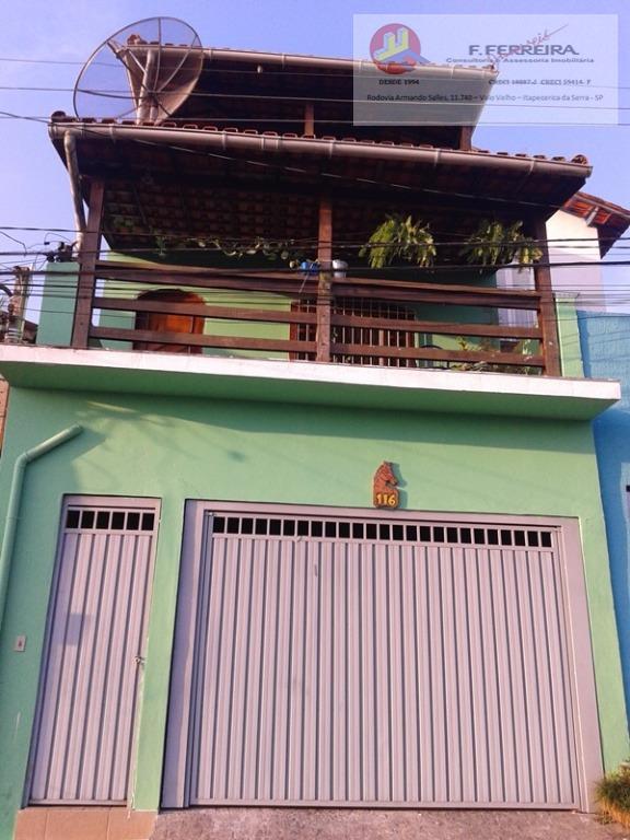 Sobrado residencial à venda, Parque Paraíso, Itapecerica da Serra.
