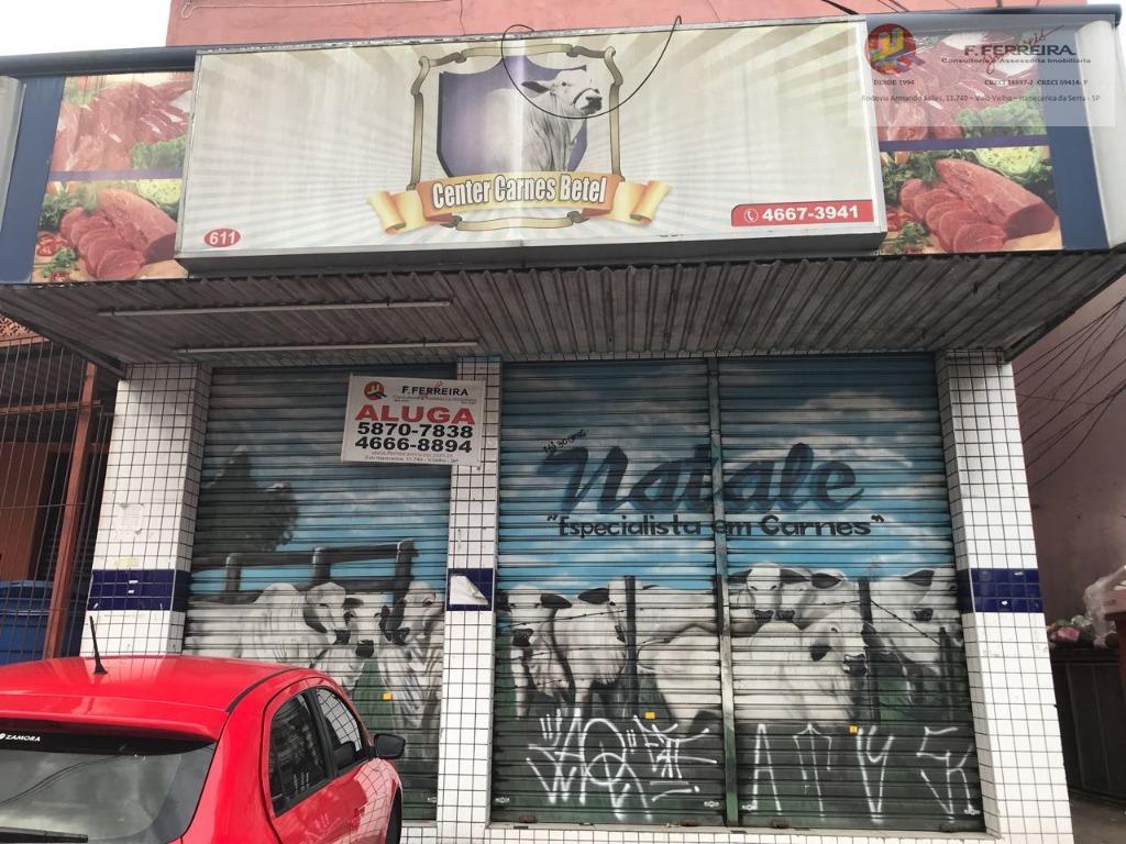 Salão comercial para locação, Parque Paraíso, Itapecerica da Serra.