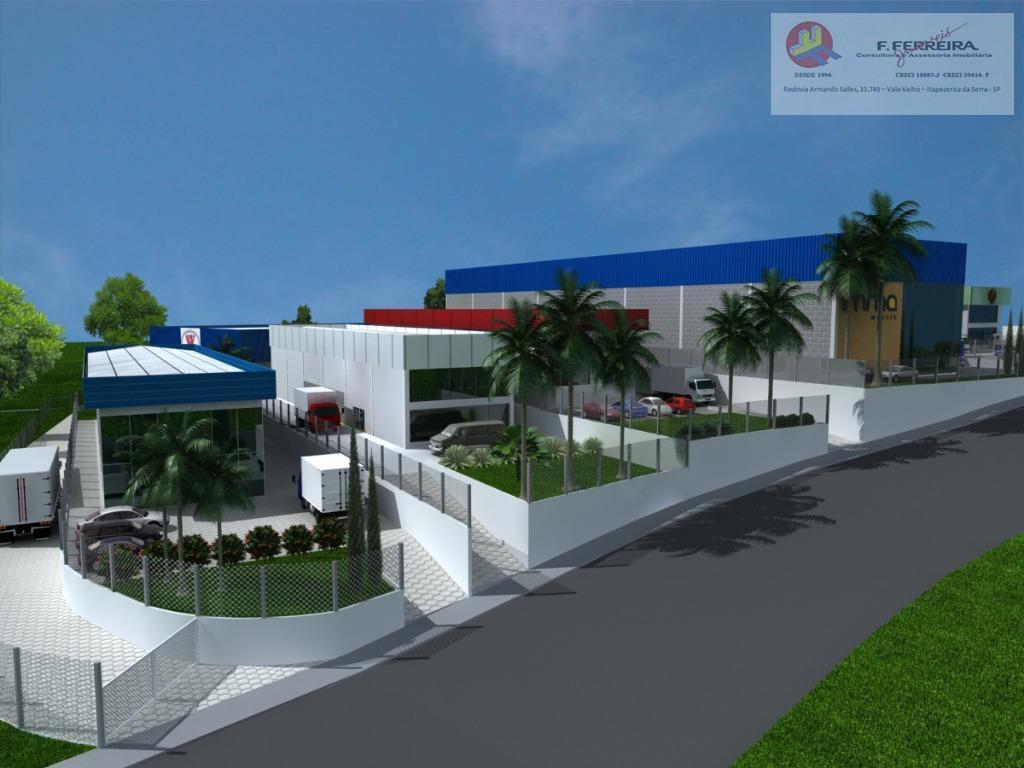 lindo terreno plano com energia trifásica e 1.500,00 m², área industrial, logística e residencial.sendo 17,00 de...