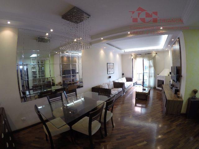 apto. 120 m2 3 dorm- 3 suites- 4 vagas  ou Locação R$ 2000,00