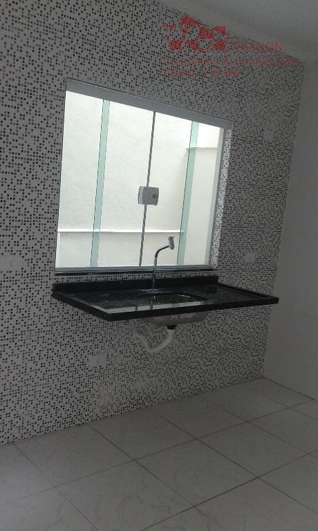 Sobrado Jd. Estadio- 70 m2 Novo 2 dorm 1 suite cozinha e área de serviço 1 vaga