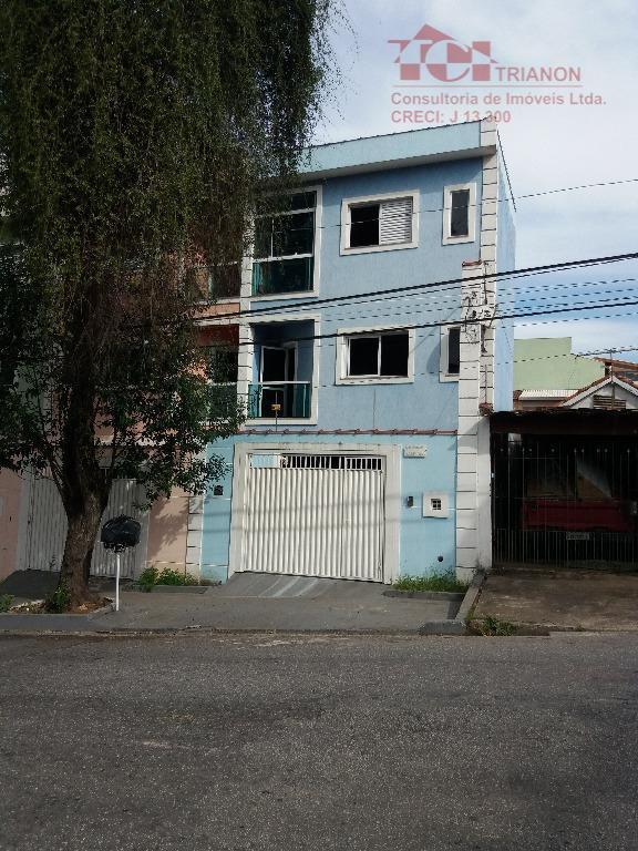 Sobrado residencial para venda e locação, Vila Alzira, Santo André.