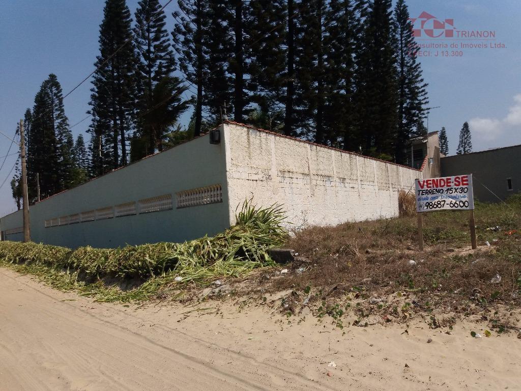terreno 15x30 Balneario Jequitiba frente praia