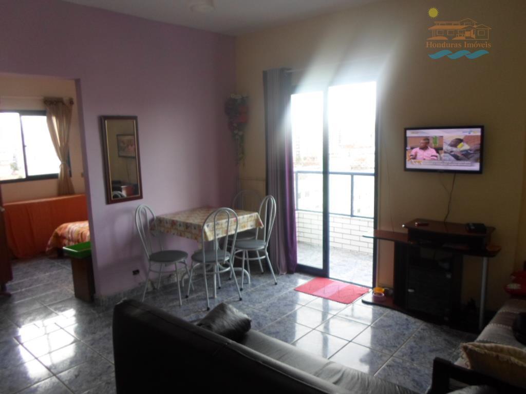 Kitnet  residencial para locação, Vila Guilhermina, Praia Grande.