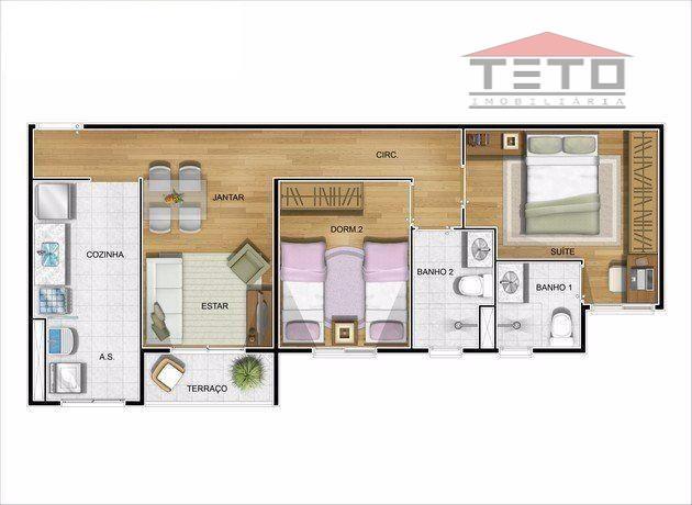 pronto para morar, novíssimo apartamento de 2 dormitórios com suite (58m2 - veja planta), uma vaga...